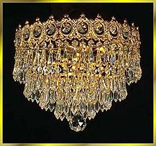 Flush Mount Chandeliers Model: 2140 FM 12