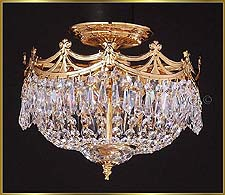 Flush Mount Chandeliers Model: 7300 FM 12