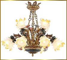 Antique Crystal Chandeliers Model: FS-9023-12