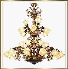Antique Crystal Chandeliers Model: FS-9023-27