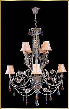 Wrought Iron Chandeliers Model: G20082-4-4A