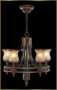 Wrought Iron Chandeliers Model: G20403-5