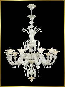 Murano Chandeliers Model: MD5116-10WHITE