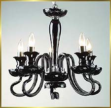 Murano Chandeliers Model: MD6001-5-BLACK