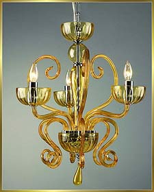 Murano Chandeliers Model: MD6002-3-AMBER
