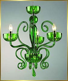 Murano Chandeliers Model: MD6002-3-GREEN