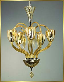 Murano Chandeliers Model: MD6004-5-AMBER