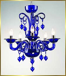 Chandelier Model: MD6008-5-BLUE