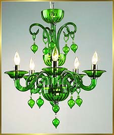 Chandelier Model: MD6008-5-GREEN
