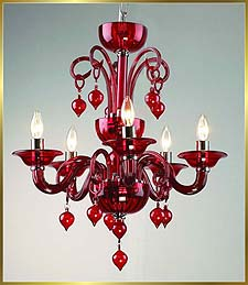 Chandelier Model: MD6008-5-RED