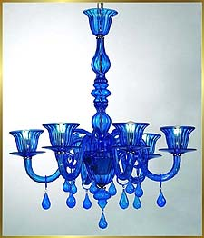Chandelier Model: MD8016-6 BLUE