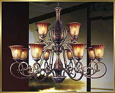 Antique Crystal Chandeliers Model: MD8512-12B