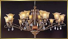 Antique Crystal Chandeliers Model: MD8513-18B
