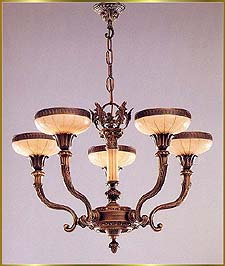 Alabaster Chandeliers Model: RL 1218-72