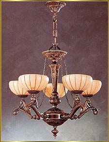 Alabaster Chandeliers Model: RL 1303-60