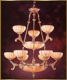 Alabaster Chandeliers Model: RL 1304-83