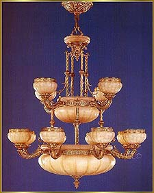Alabaster Chandeliers Model: RL 1335-100