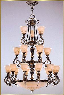 Alabaster Chandeliers Model: RL 1388-108