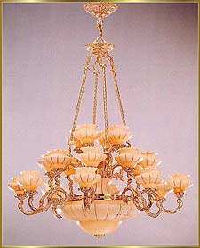 Alabaster Chandeliers Model: RL 1477-120